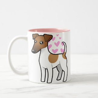 Smooth Fox Terrier Love Two-Tone Coffee Mug