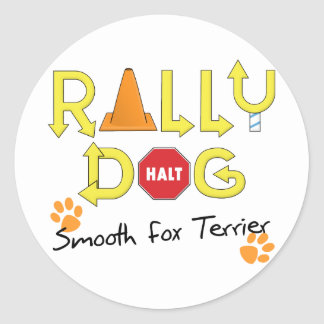 Smooth Fox Terrier Rally Dog Classic Round Sticker