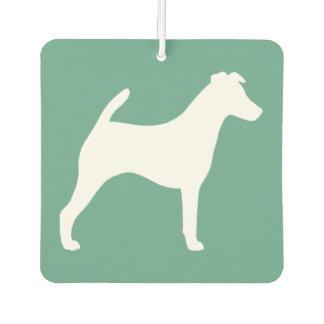Smooth Fox Terrier Silhouette Car Air Freshener