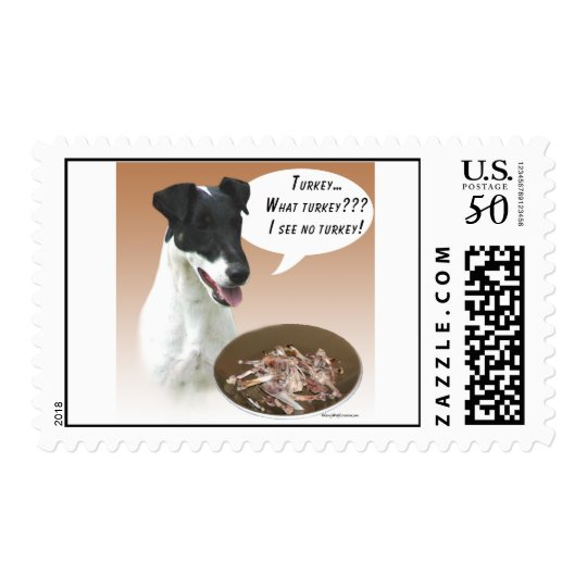 Smooth Fox Terrier Turkey Postage