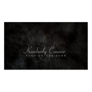 Smooth Fur Cool Fashion Black Card