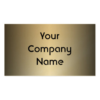 Smooth Gold Metal Look Business Cards