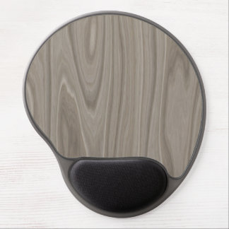 Smooth Gray Wood Gel Mouse Pad