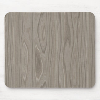 Smooth Gray Wood Mouse Pad