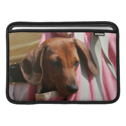 Macbook Air Sleeve with Dachshund Phone Cases design