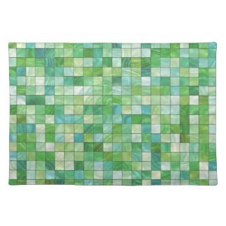 Smooth irregular green background cloth placemat