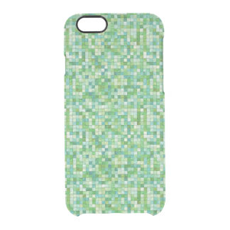 Smooth irregular green background uncommon clearly™ deflector iPhone 6 case