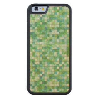 Smooth irregular green background carved® maple iPhone 6 bumper case