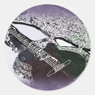 Smooth Jazz Guitar Classic Round Sticker