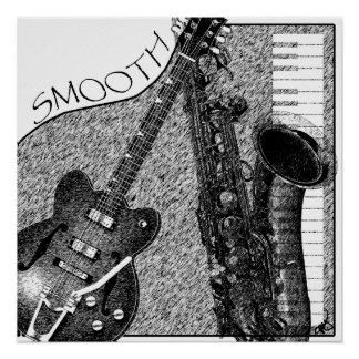 Smooth Jazz Poster Sketch