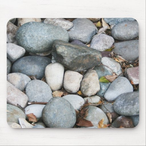 Smooth landscape rocks mouse pad zazzle - Smooth stones for landscaping ...