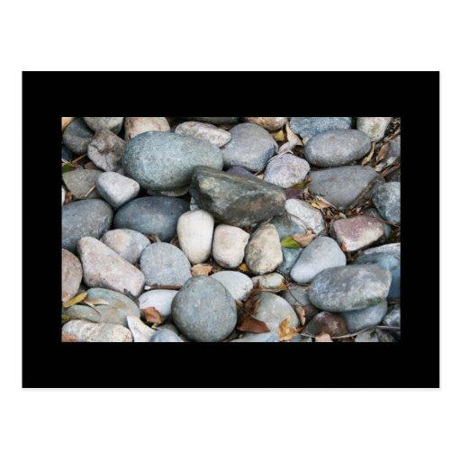 Smooth landscape rocks postcard zazzle for Smooth landscaping rocks