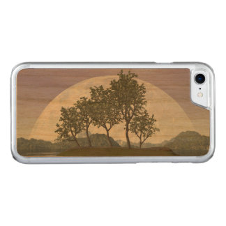 Smooth leaved elm bonsai tree - 3D render Carved iPhone 8/7 Case