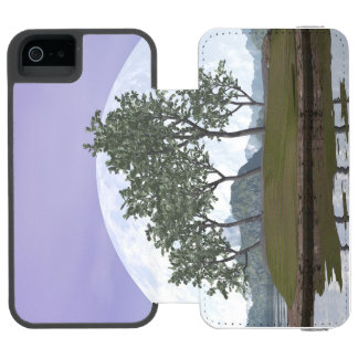 Smooth leaved elm bonsai tree - 3D render Wallet Case For iPhone SE/5/5s