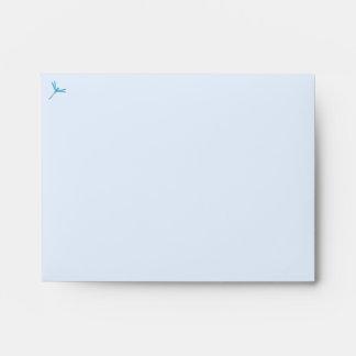 Smooth Light Blue Dragonfly Envelope