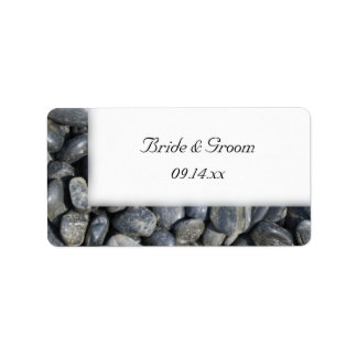 Smooth Pebbles Wedding Labels