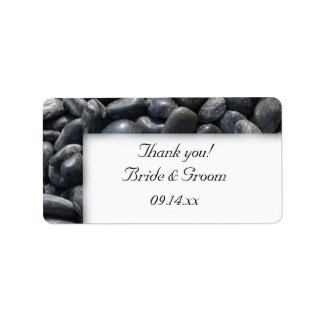 Smooth Pebbles Wedding Thank You Label