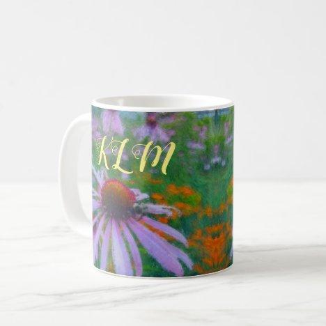 Smooth Pollinator Flower Personalized Coffee Mug