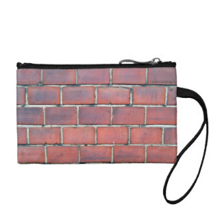 Smooth Red Brick Wall Detail Change Purse