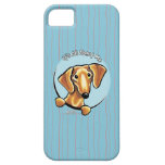 Smooth Red Dachshund IAAM iPhone 5 Case