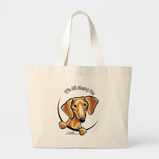 Smooth Red Dachshund Its All About Me Canvas Bags