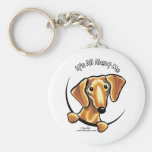 Smooth Red Dachshund Its All About Me Keychains