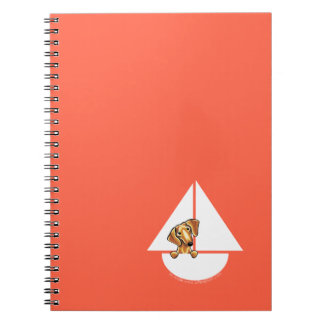 Smooth Red Dachshund Sailboat Red Spiral Note Book