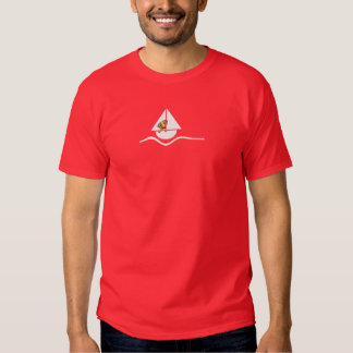 Smooth Red Dachshund Sailboat Red Tee Shirts