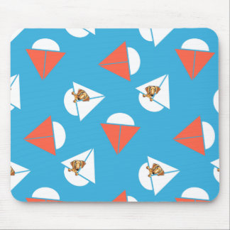 Smooth Red Dachshund Sailboats Blue Mouse Pad
