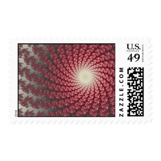Smooth Red Whirlpool2 Postage Stamp