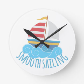 Smooth Sailiing Round Clock