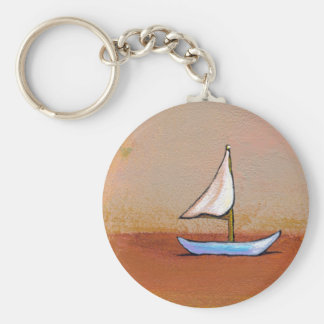 Smooth Sailing - beauty peace calm modern art Key Chains