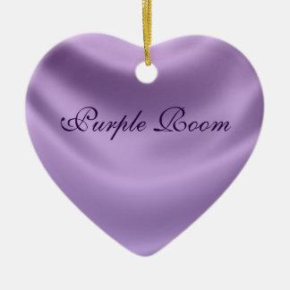 smooth silk - purple ceramic ornament