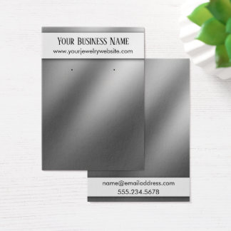 Smooth Silver Ombre Earring Holder Display Cards
