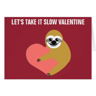 Smooth Sloth Valentine Card
