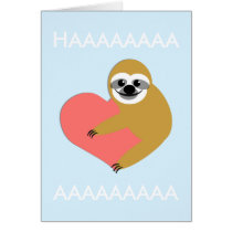 Smooth Sloth Valentine's Day Card