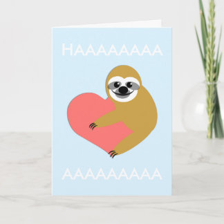 Smooth Sloth Valentine's Day Holiday Card