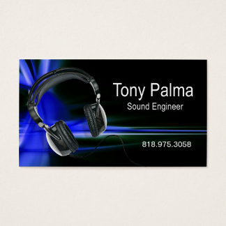 Smooth Sound Engineer - Music Business Card