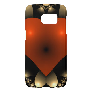 Smooth Symmetrical 3D Red Heart Samsung Galaxy S7 Case