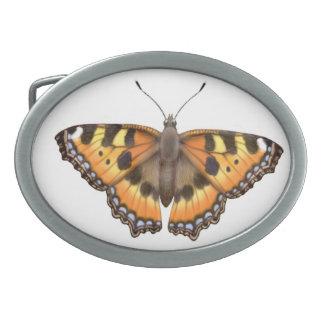 Smooth Tortoiseshell Vanessa Butterfly Belt Buckle