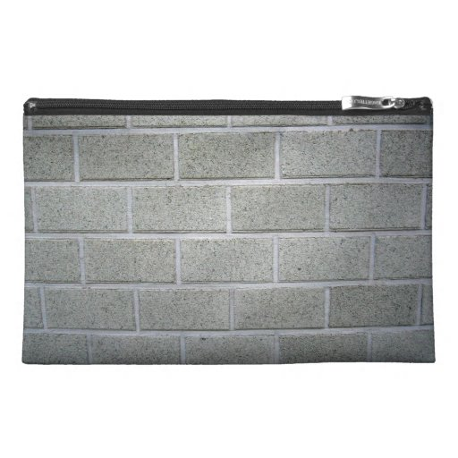 Smooth Wall Texture With White Bricks Travel Accessory Bags