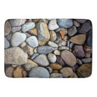 SMOOTH WASHED RIVER ROCKS BATH MAT