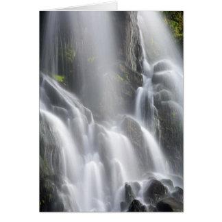Smooth waterfall greeting card
