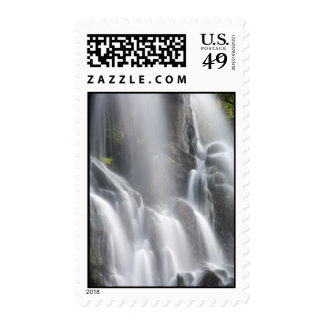 Smooth waterfall postage