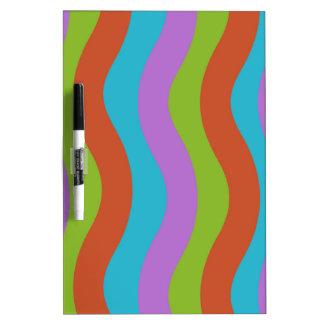 Smooth Wave Stripes Dry Erase Board