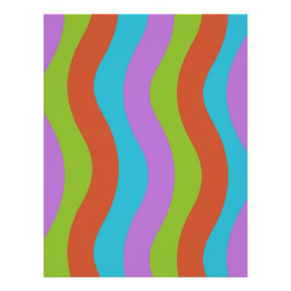 Smooth Wave Stripes Letterhead