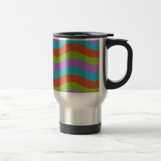 Smooth Waves Stripes Travel Mug