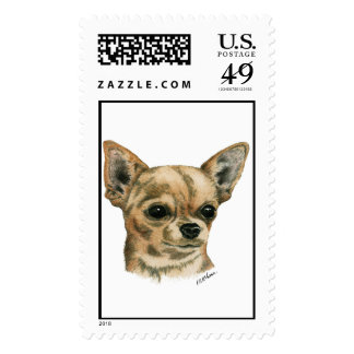 Smoothcoat chihuahua postage stamps