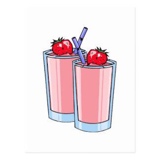 smoothie de la fresa tarjeta postal