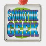 Smoothie Geek v3 Square Metal Christmas Ornament